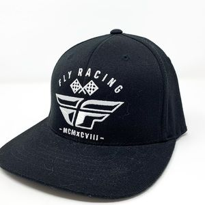 Fly Racing | Mens Blk Flex Fit Flat Brim Hat L/XL